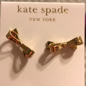 Gold Kate Spade Bow Earrings